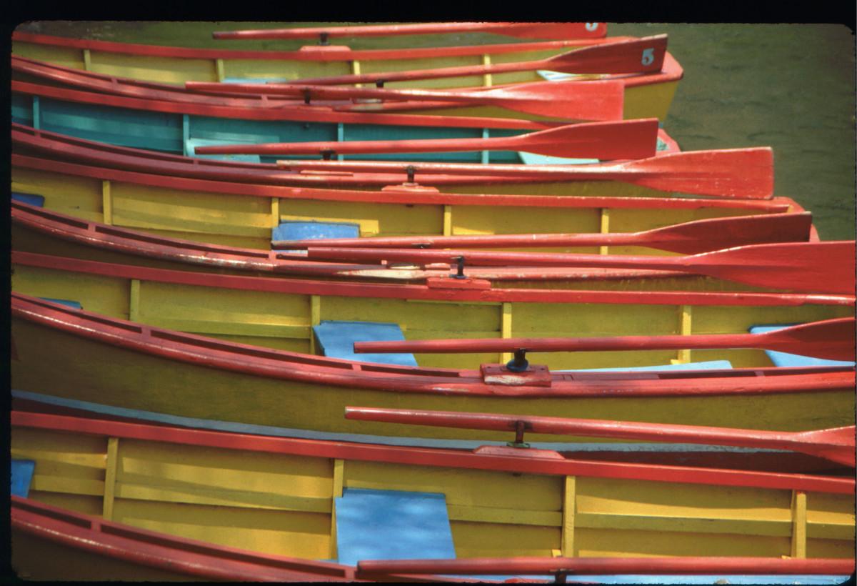 Canoes, Lake Atitlan, Guatemala