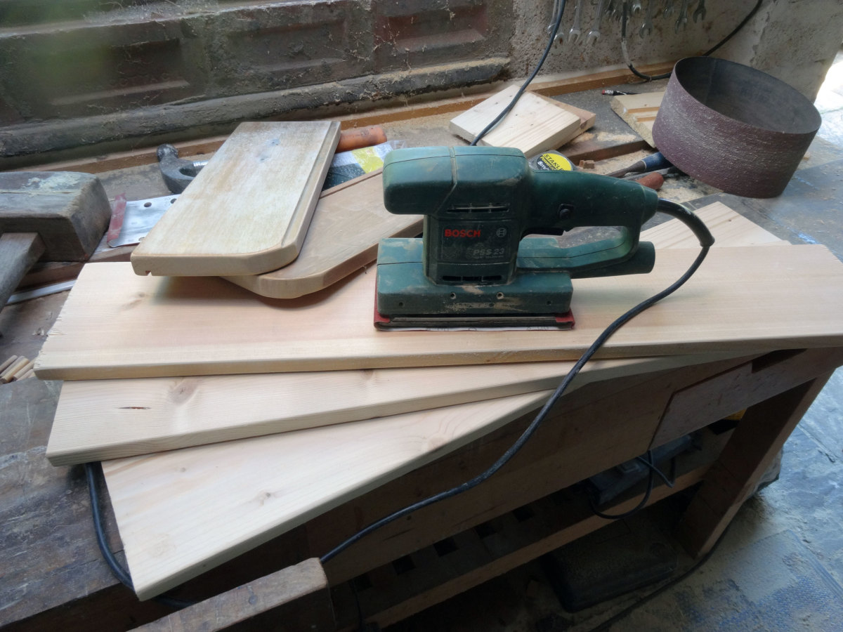 Always make sure the wood is well sanded to give a good finish.