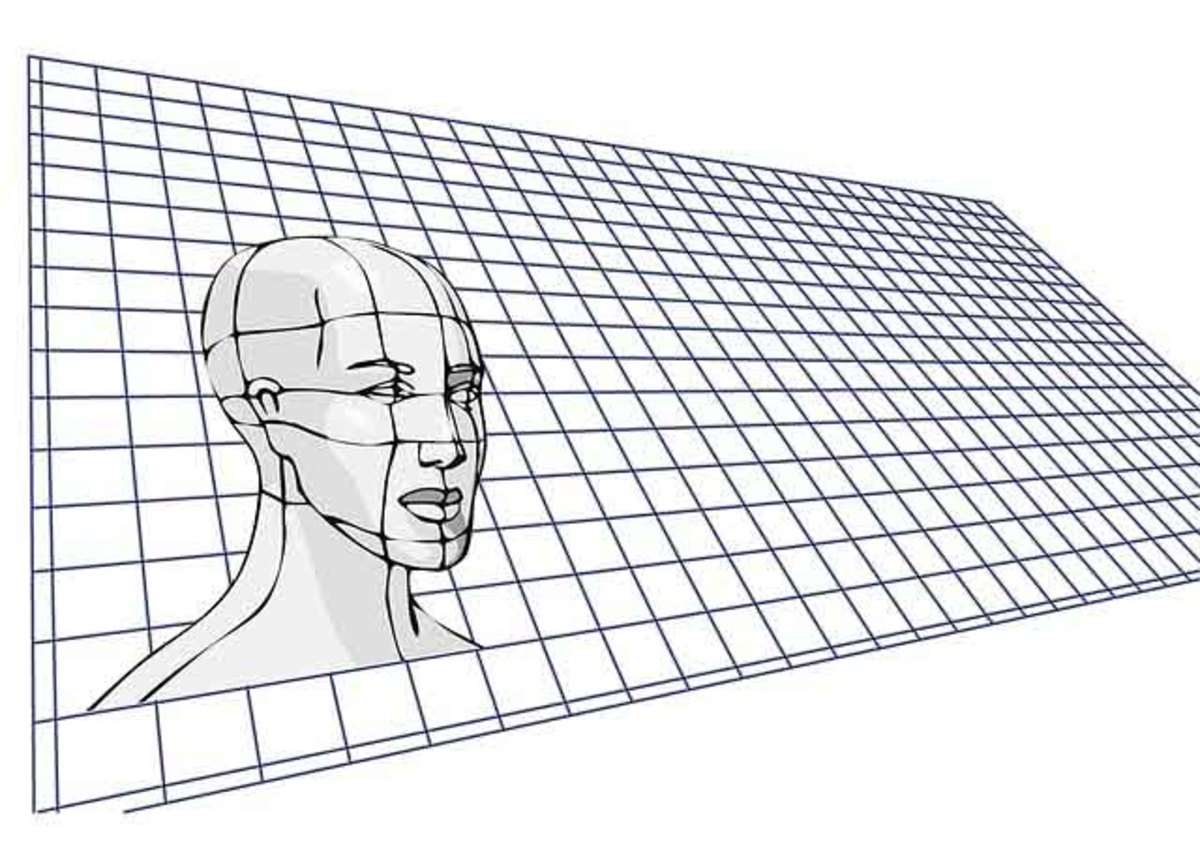 There are general rules of measurements for the human head; however, there are individual variances.