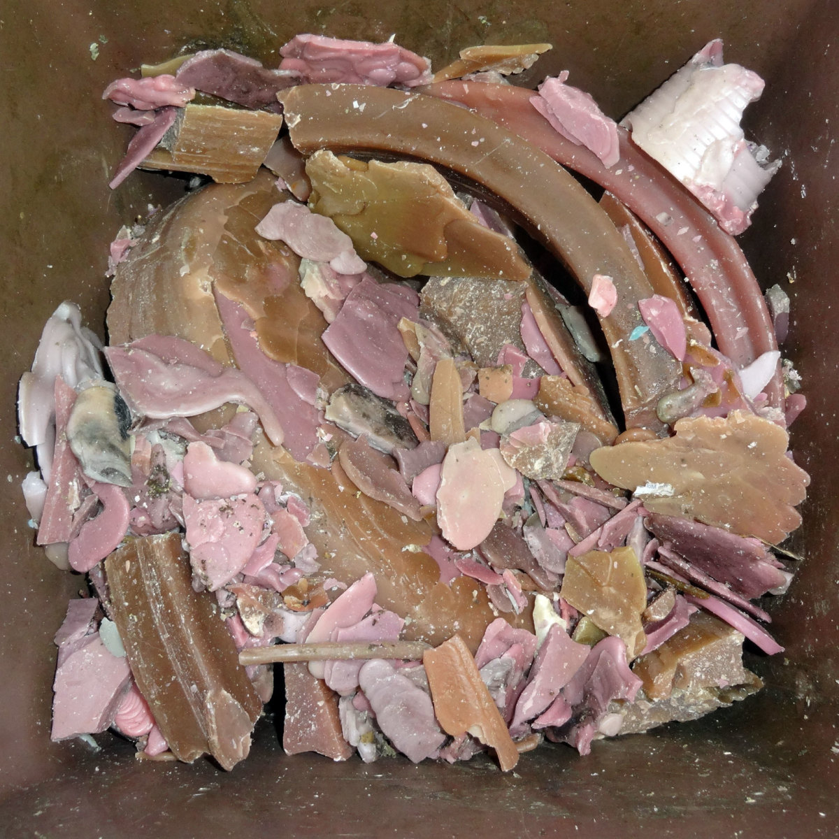 Old wax used for recycling to make new candles.