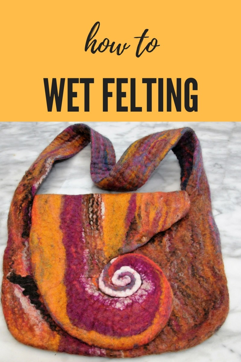 Wet Felted Spiral Bag