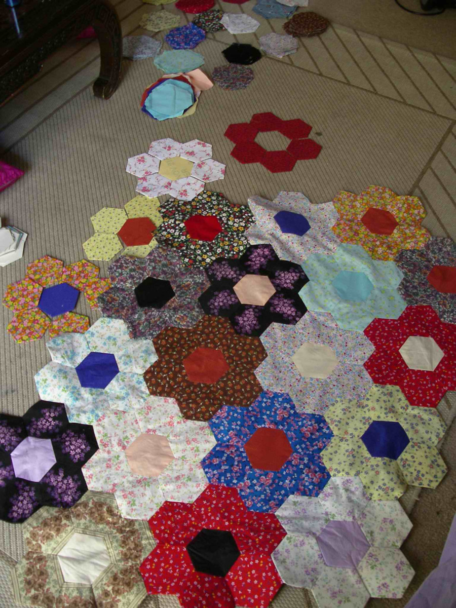 patchwork-quilt-designs-hexagons