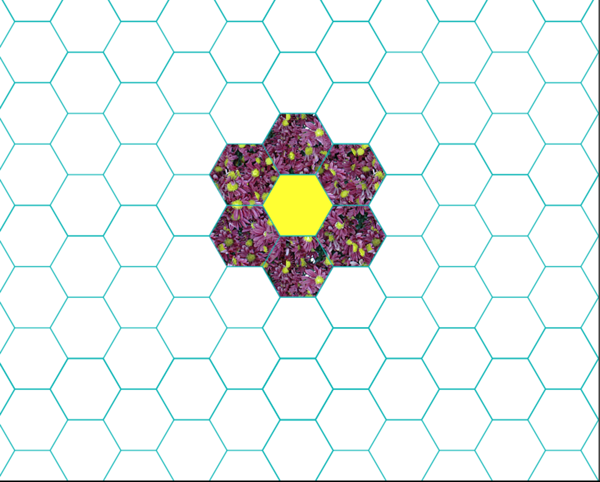 Patchwork Quilt Designs Hexagons  Feltmagnet