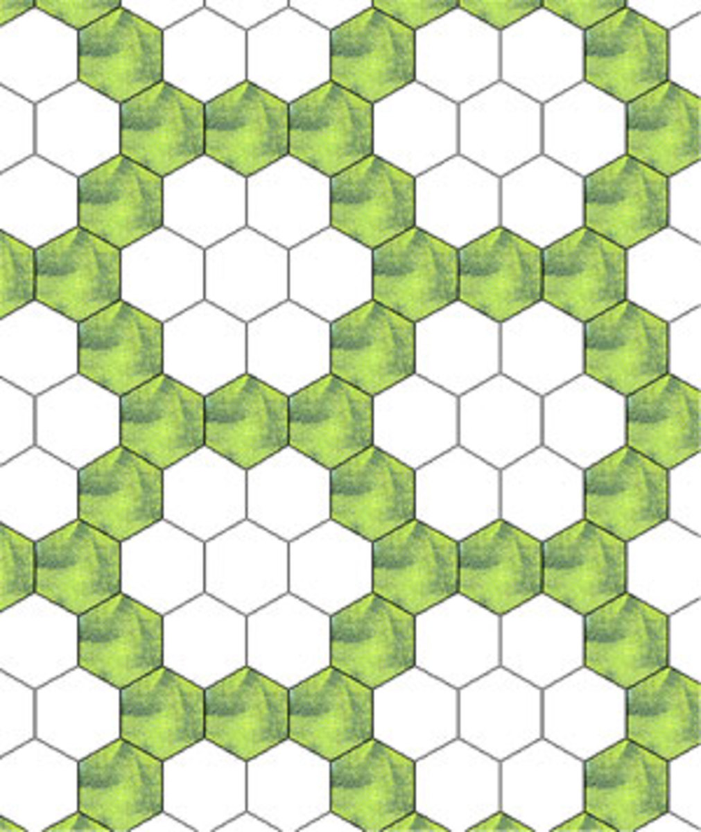 Patchwork Quilt Designs: Hexagons | Feltmagnet