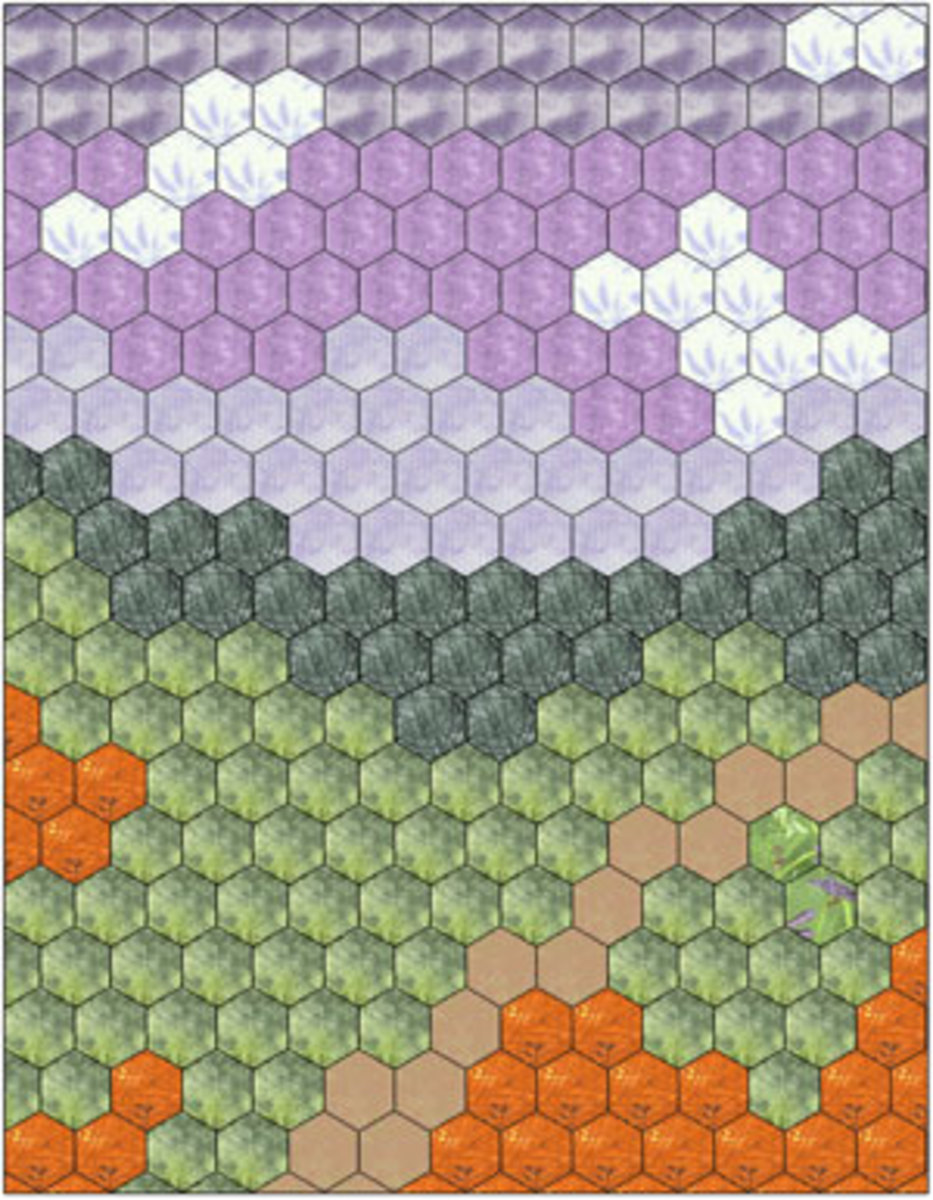 Landscape or Picture Quilt Design