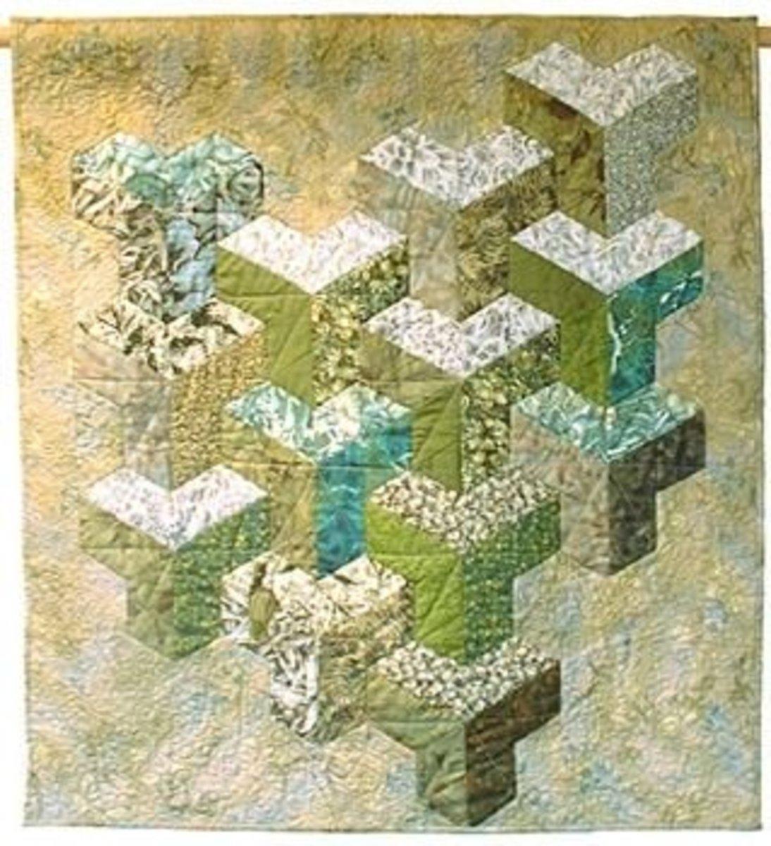 Inner Sanctum, based on Inner City, a traditional half hexagon design.