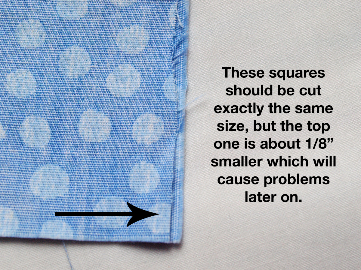 Even though it's a very scant cutting mistake, it will make a difference.