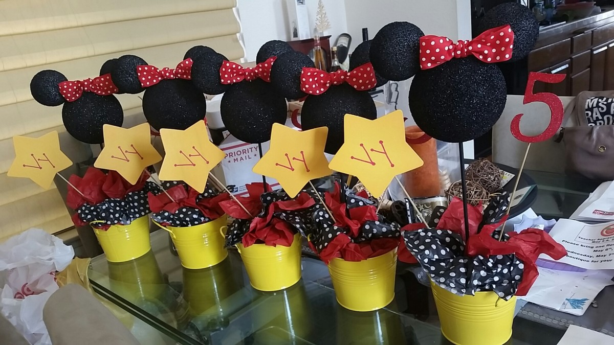 Another cute idea using polka dot tissue paper and colorful flower pots!