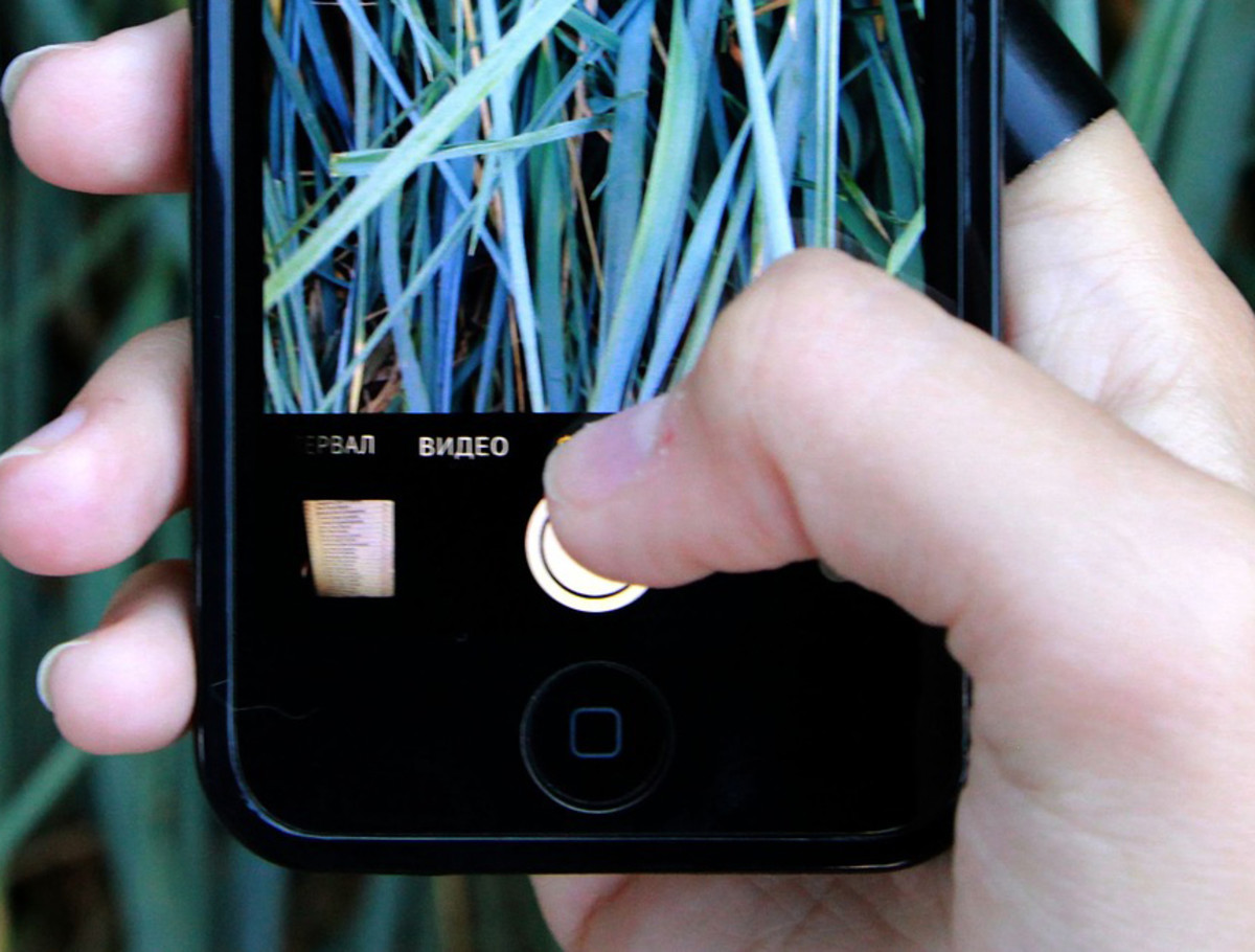 Hold the camera's shutter button down to take a burst of images at once.