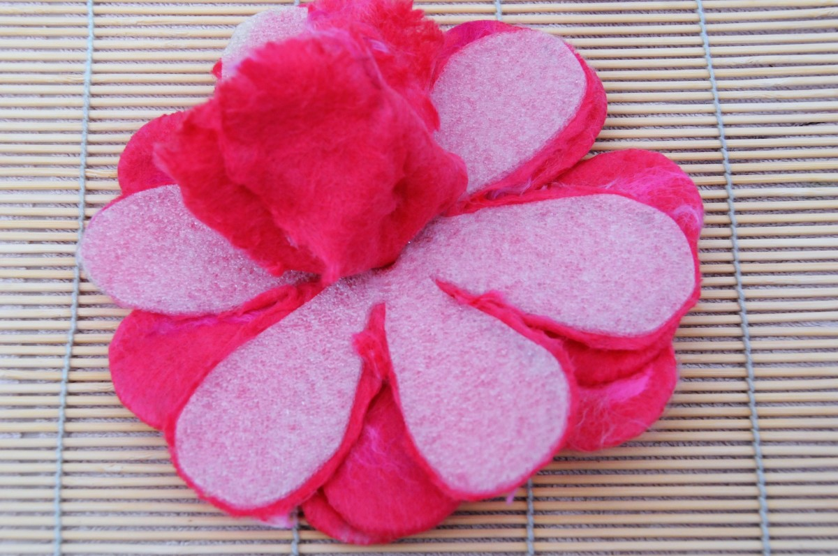 The 1st Layer of Petals Released From the Template