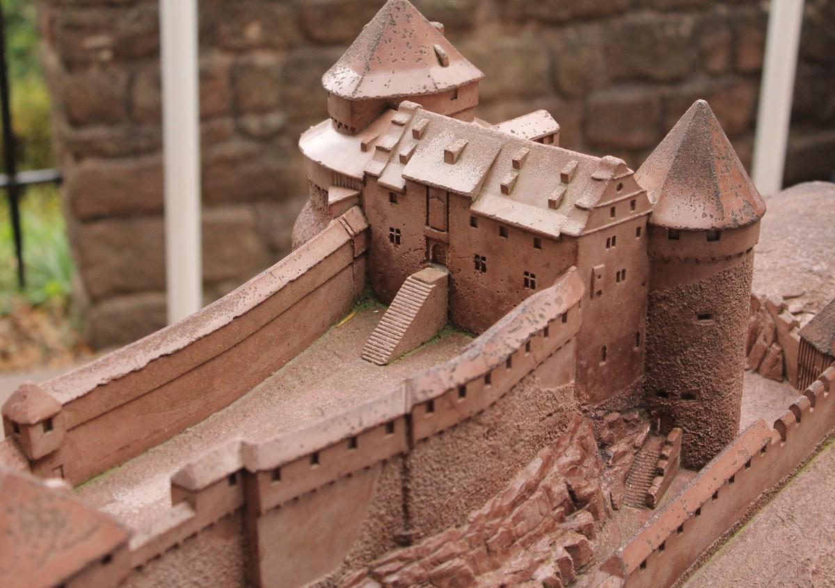 A miniature medieval castle.