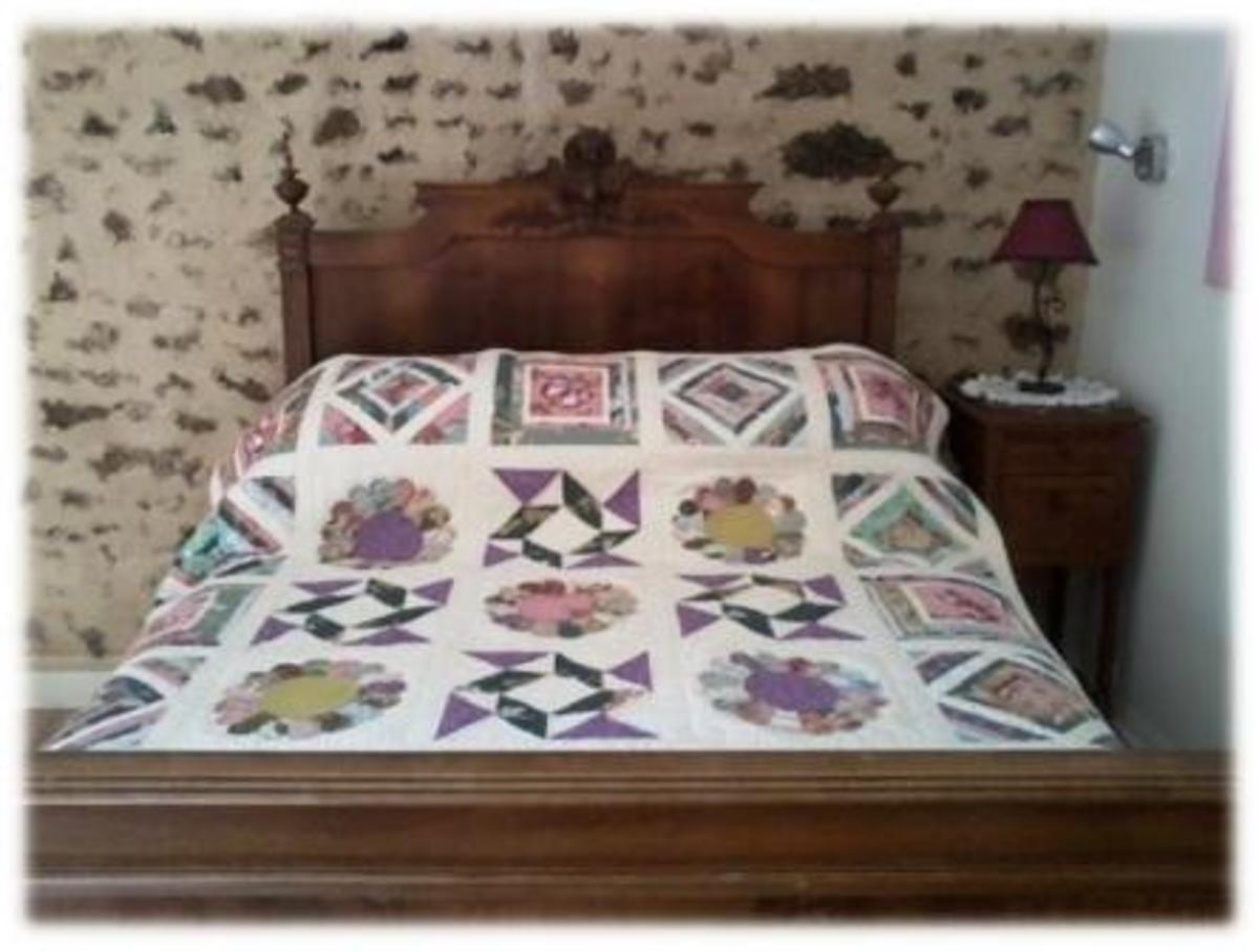 One of my finished quilts showing a mixture of blocks.