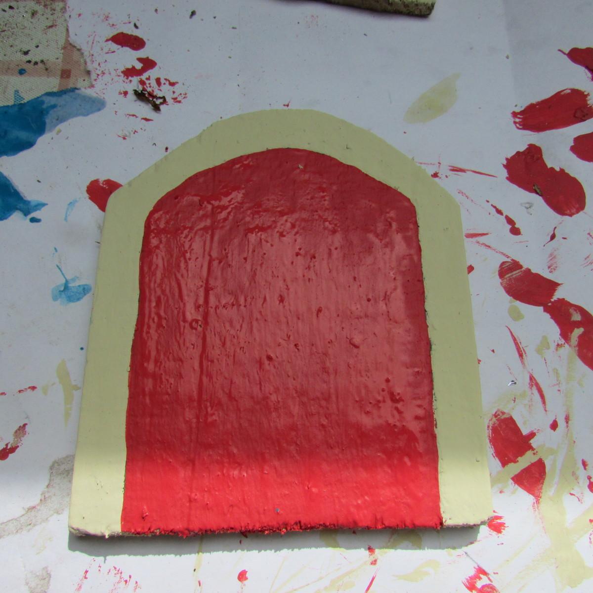How To Make Fairy Doors - Painting the Door