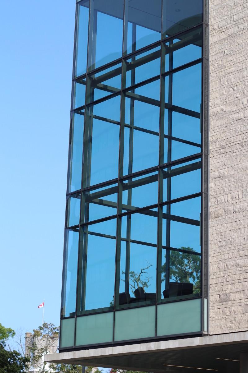 Glass Exterior of the School of Medicine