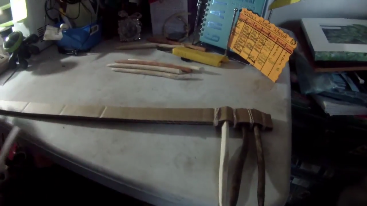 Spacing out the rubber bands using the second method.