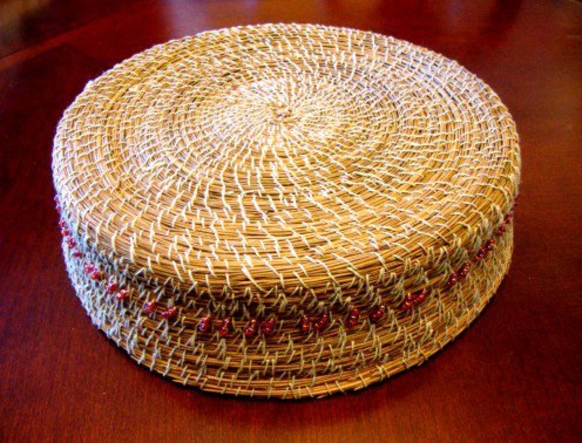 A peek at the bottom of my basket. This basket held together so well and was better than my first basket.