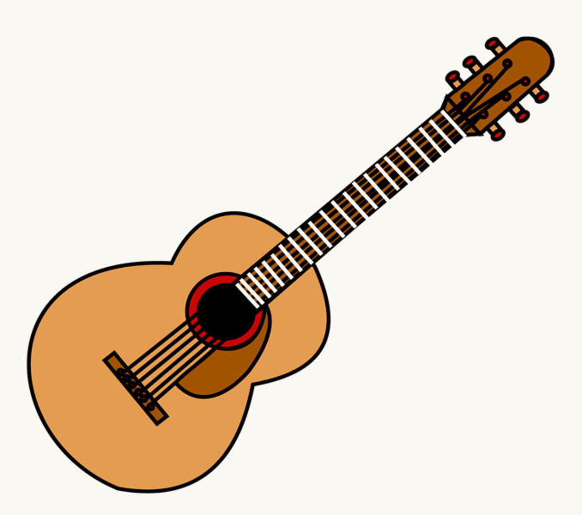First step to learn how play guitar