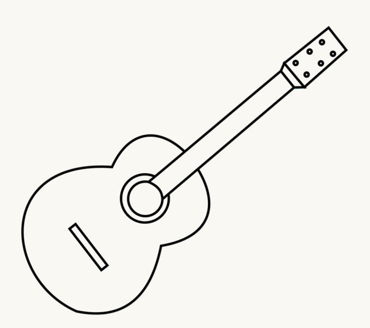 Step By Step How To Draw A Guitar Feltmagnet