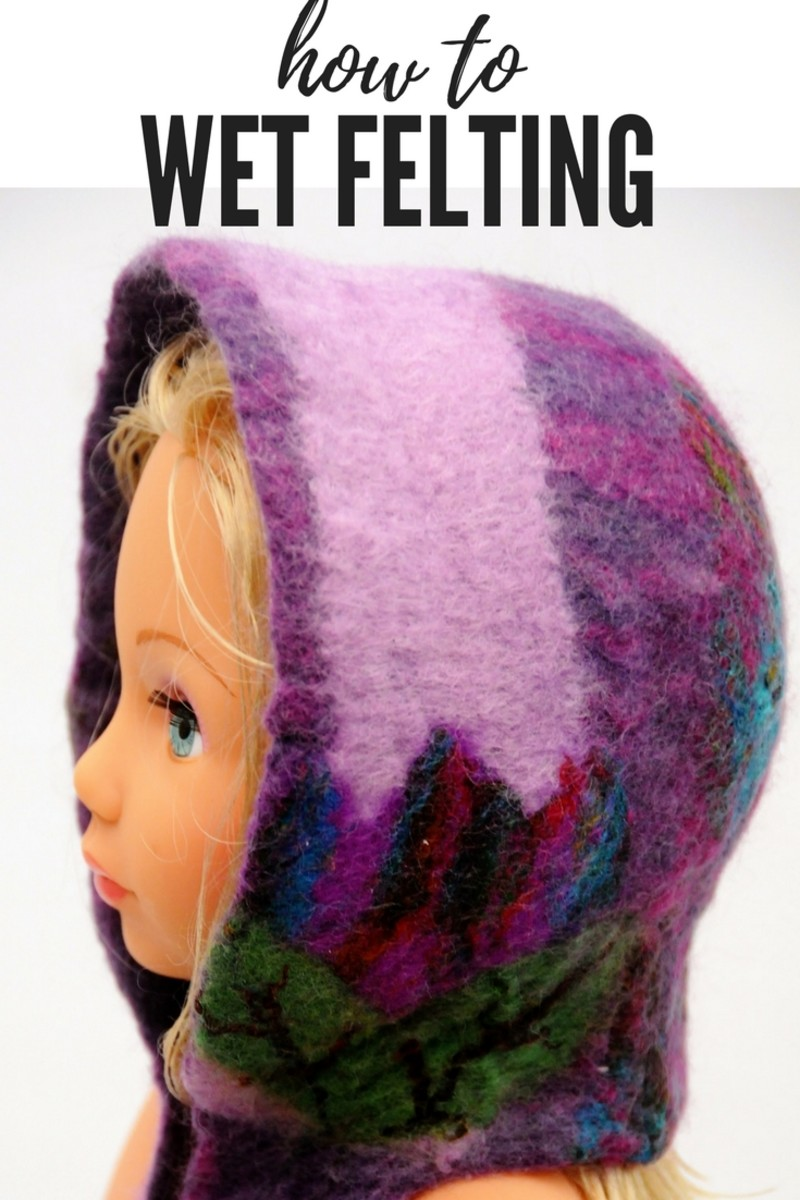 How to 'Make Wet Felted Baby Bonnet'
