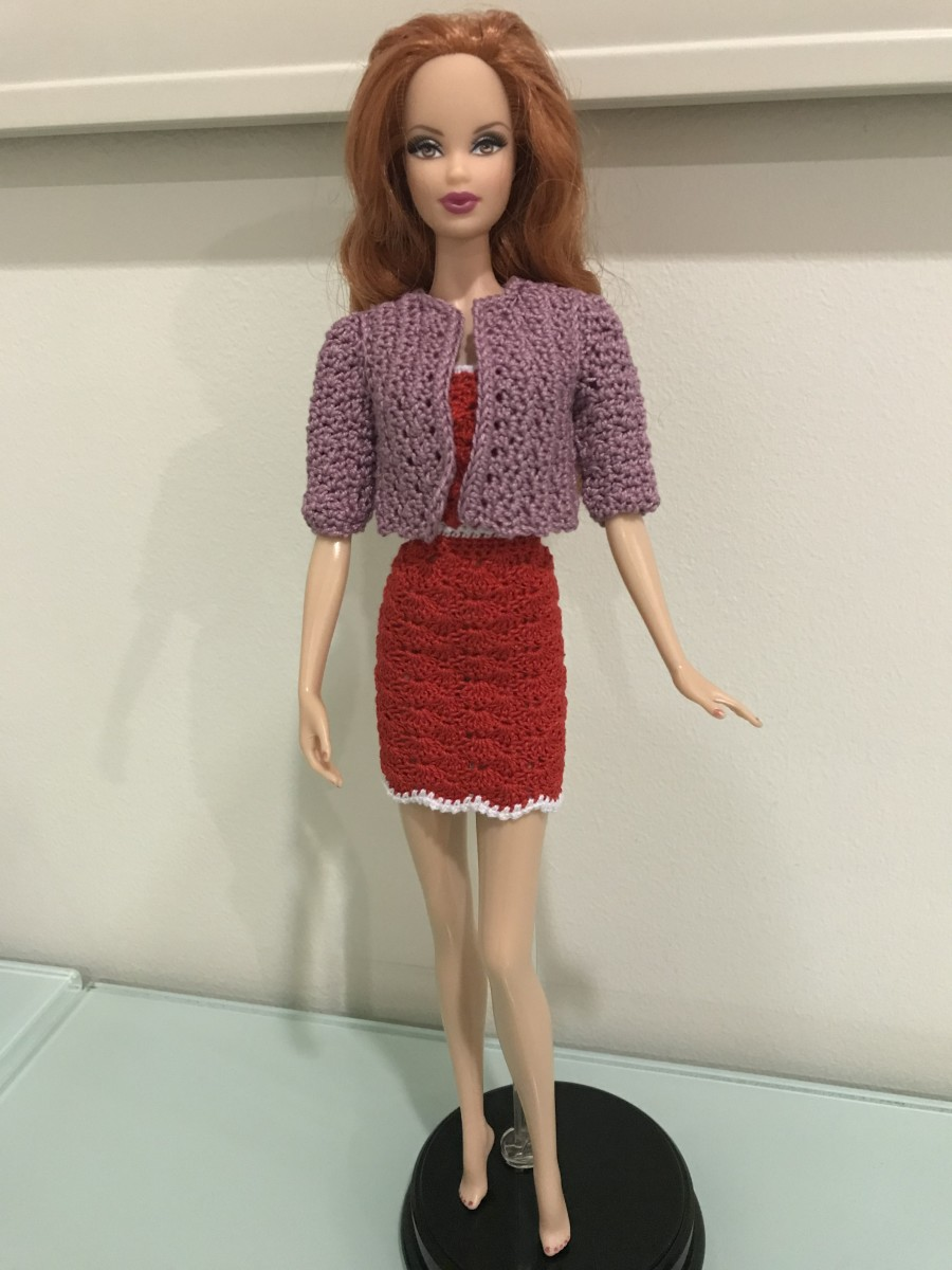 Barbie Closed Shell Backless Dress with the Blazer from Barbie Business Suit