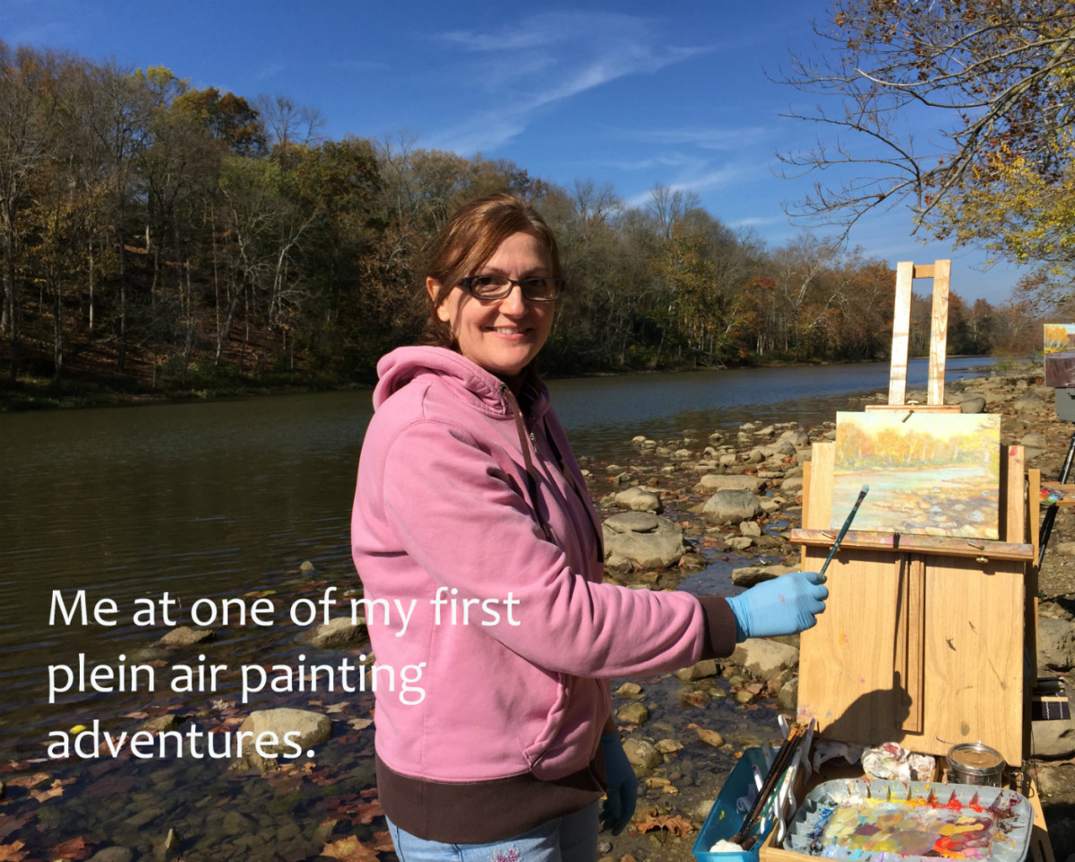 Painting outdoors takes you to beautiful places, and it's a totally different experience than painting from a photo.