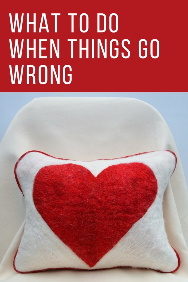 How to mend a broken heart when things go wrong/felting tutorial.
