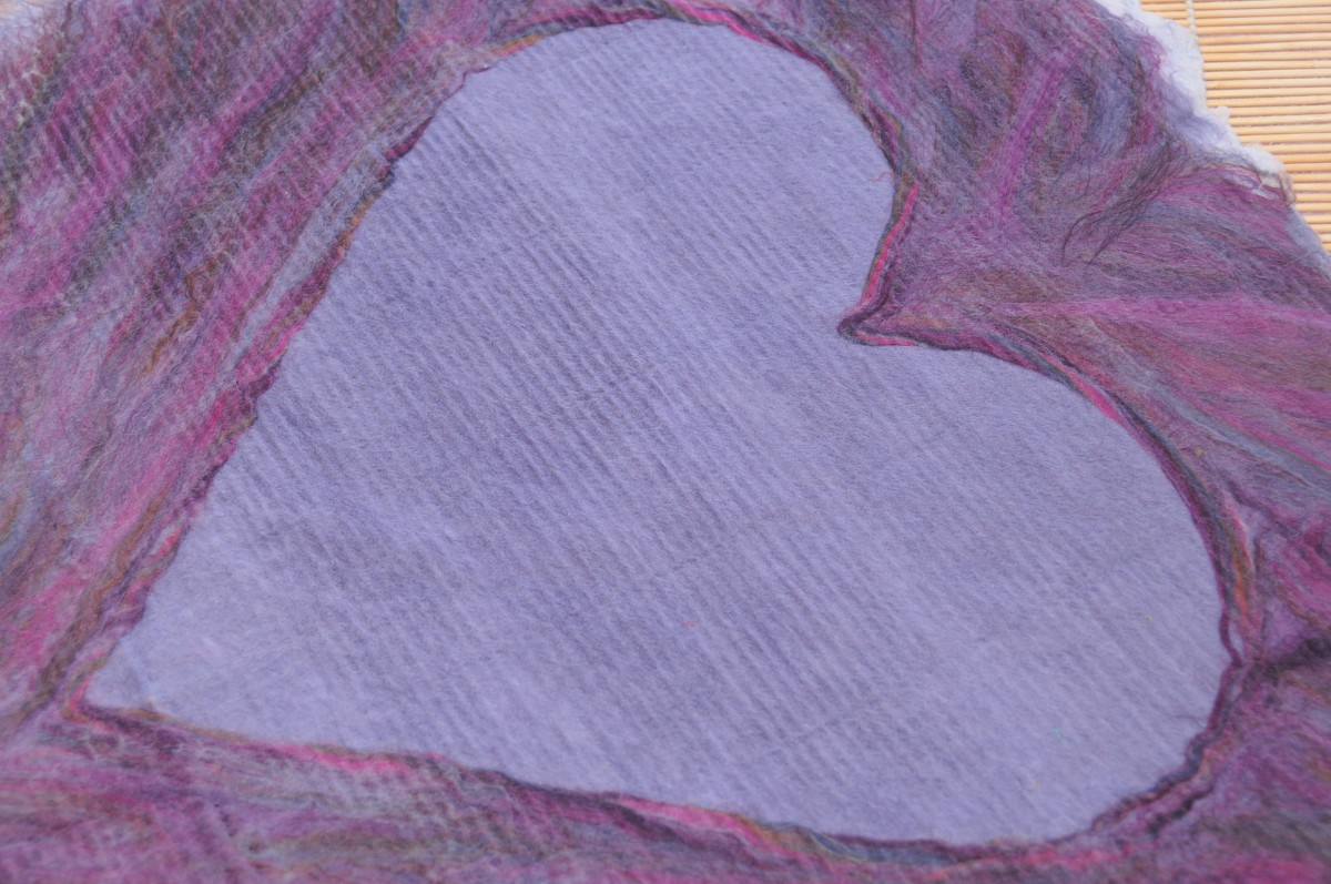 Pencil Roving Around the Edges of the Heart Template