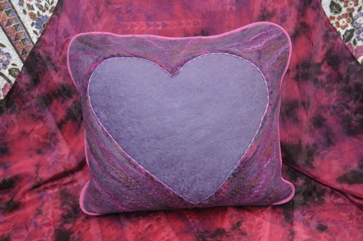 One of the Sweet Heart Cushions