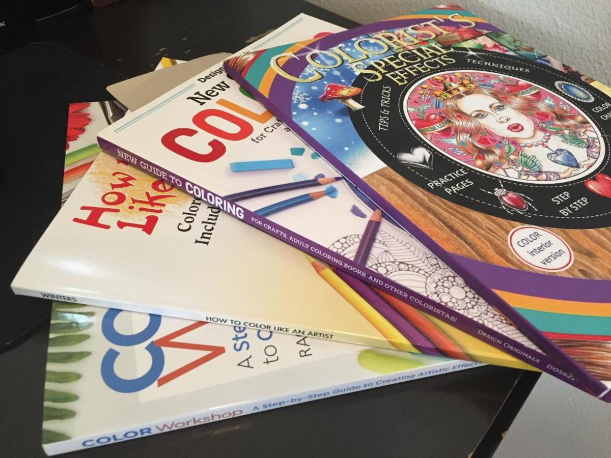 Various tutorial books on coloring.
