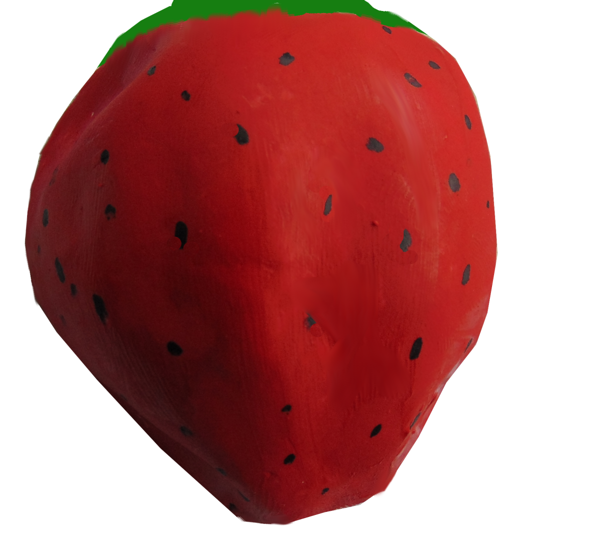 My apple looked more like a strawberry to me, so I went with it!