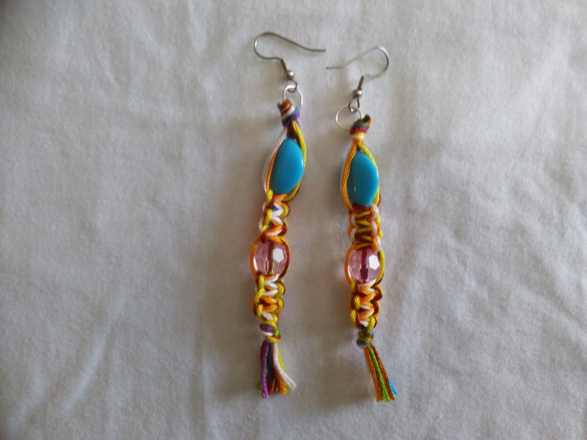 Completed Pair of Earrings
