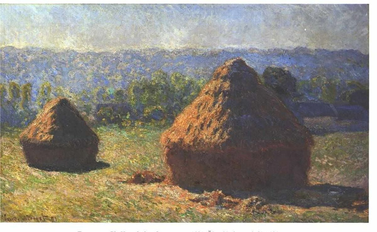 Haystacks in the late summer by Claude Monet