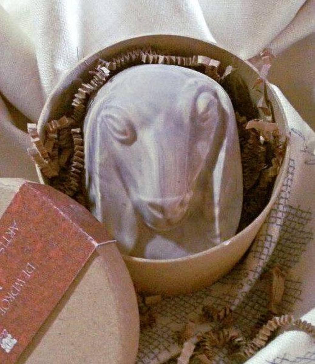 Goat-milk soap in a gift box
