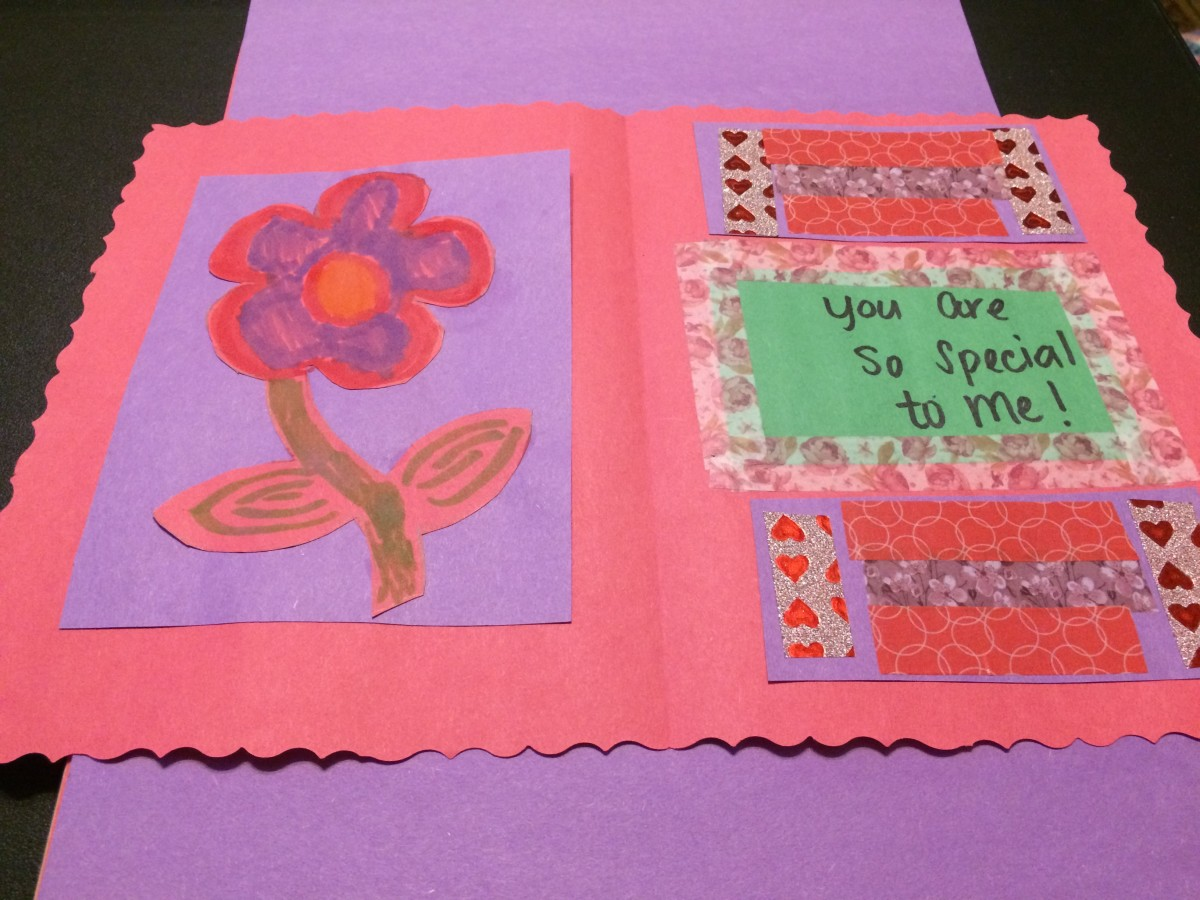 Design the inside of the card in whatever manner you wish. Just have fun and unleash your creative nature! Make it sweet for Mother's Day!