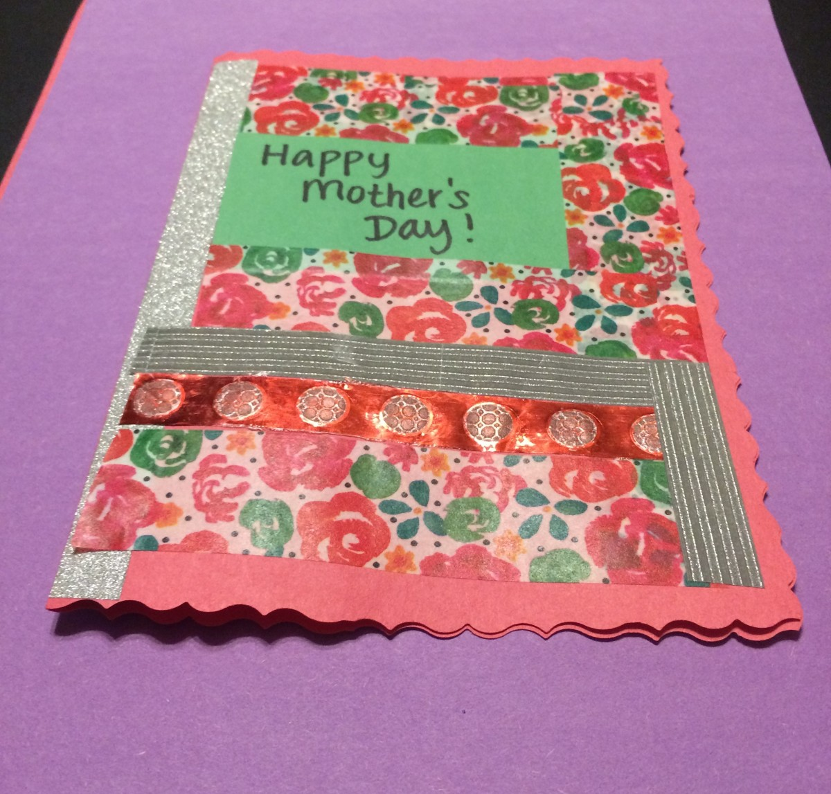 This sweet card for Mother's Day was so fun to make. I love playing with stickers and washi tape!
