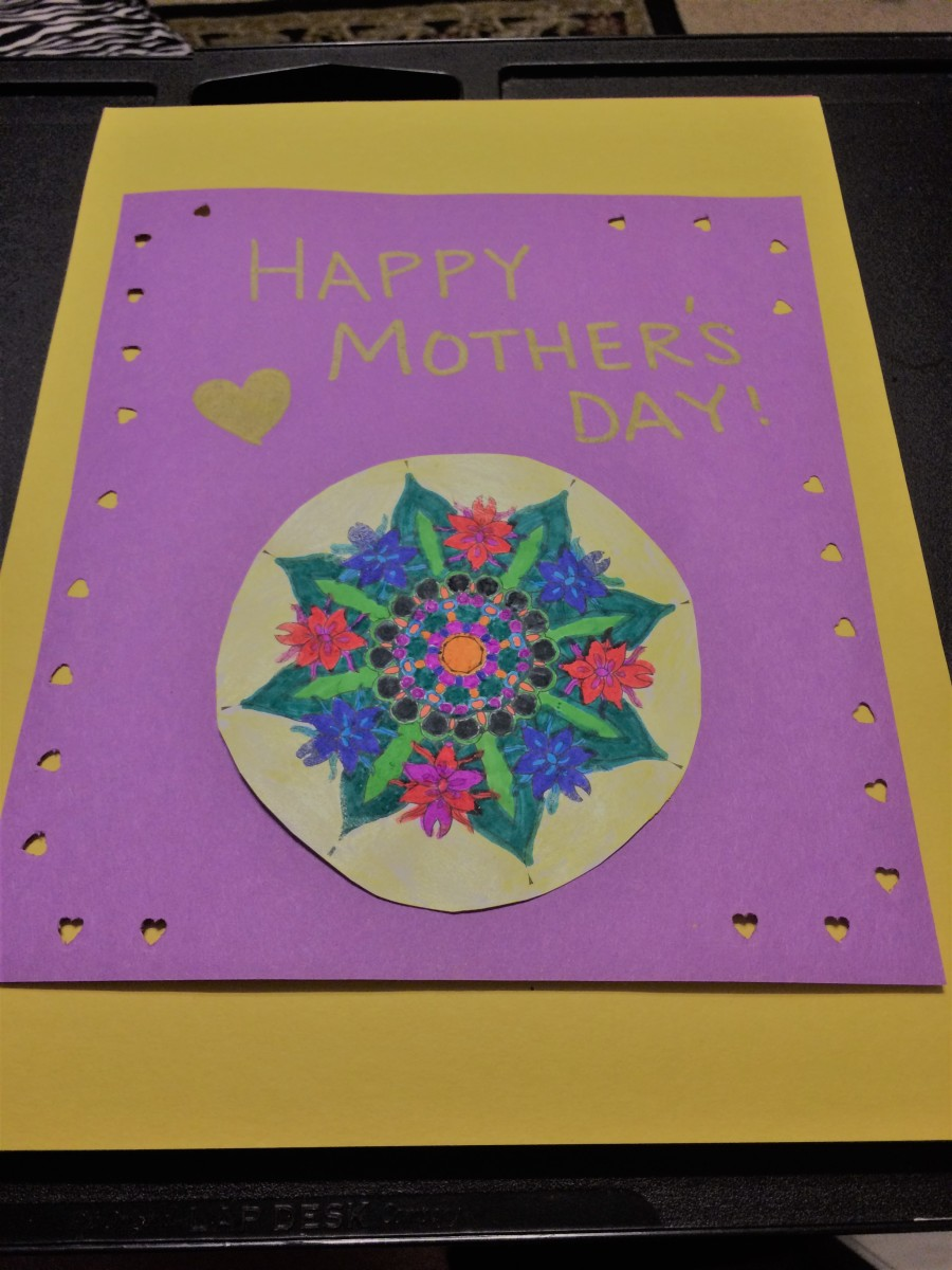 Go wild and have fun coloring and making this Mother's Day art piece.