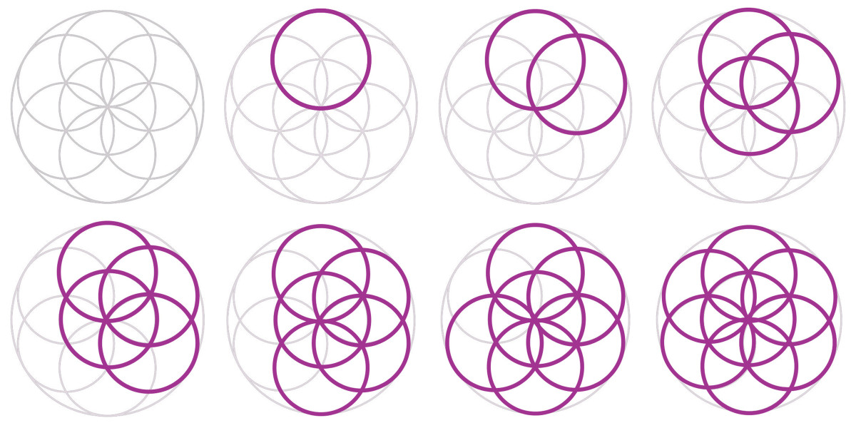 Sacred Geometry—The Seed of Life—The 7 Days of Creation