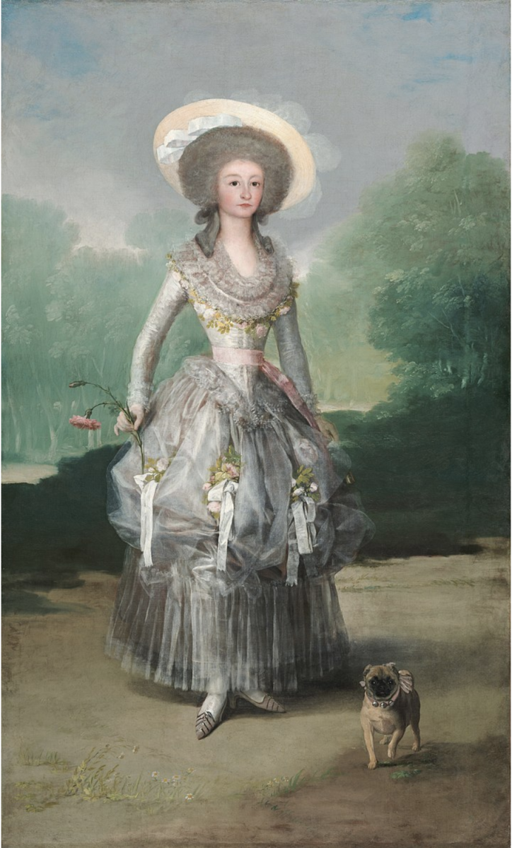 """The Marquesa de Pontejos"" by Francisco de Goya (1786)"