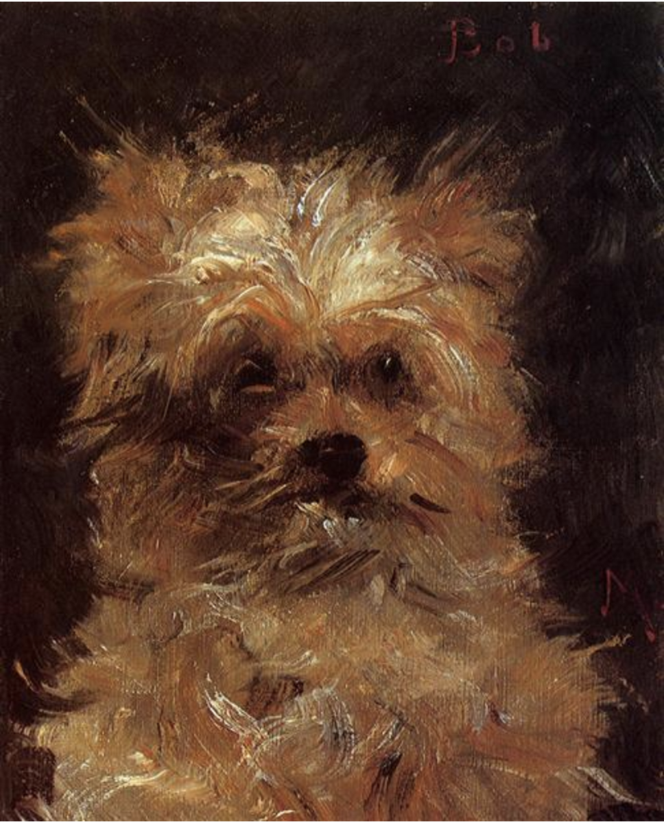 """Head of a Dog"" by Edouard Manet (1876)"