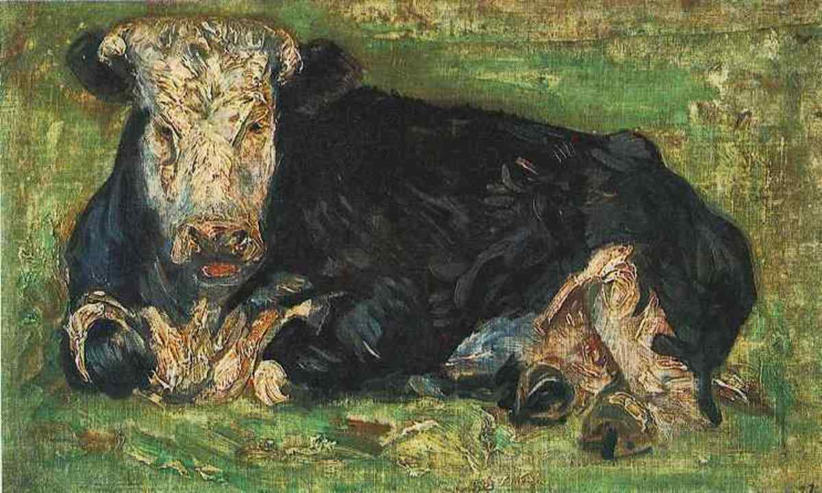 """Lying Cow"" by Vincent van Gogh (1883)"