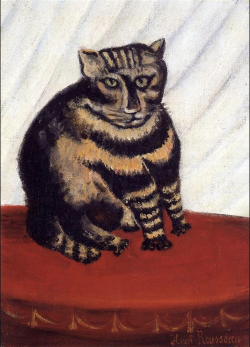 """Le chat tigre"" by Henri Rousseau (?)"