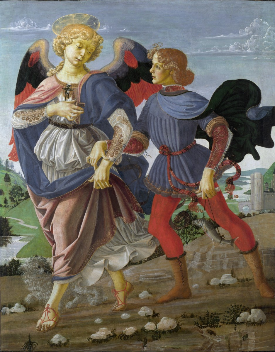 """Tobias and the Angel"" by Andrea del Verrocchio (1470-1475)"
