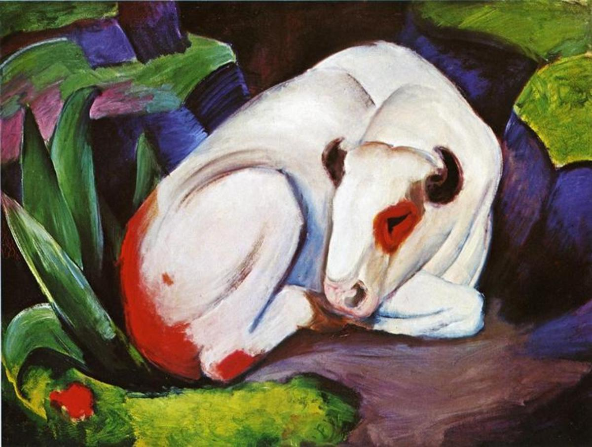 """The Steer (The Bull)"" by Franz Marc (1911)"