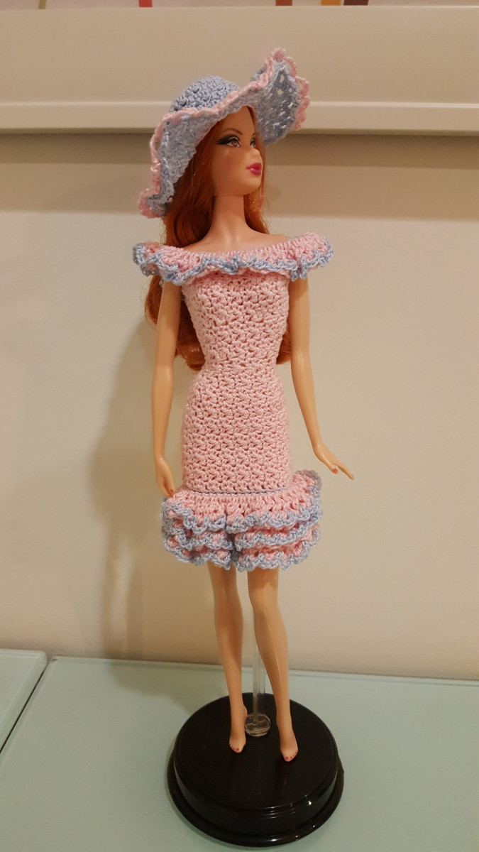 Barbie Flounce Off-Shoulder Ruffled Dress