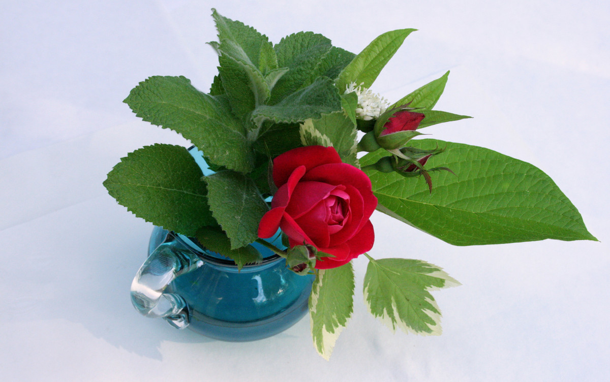 Mom can prolong the life of her bouquet by placing it in water.