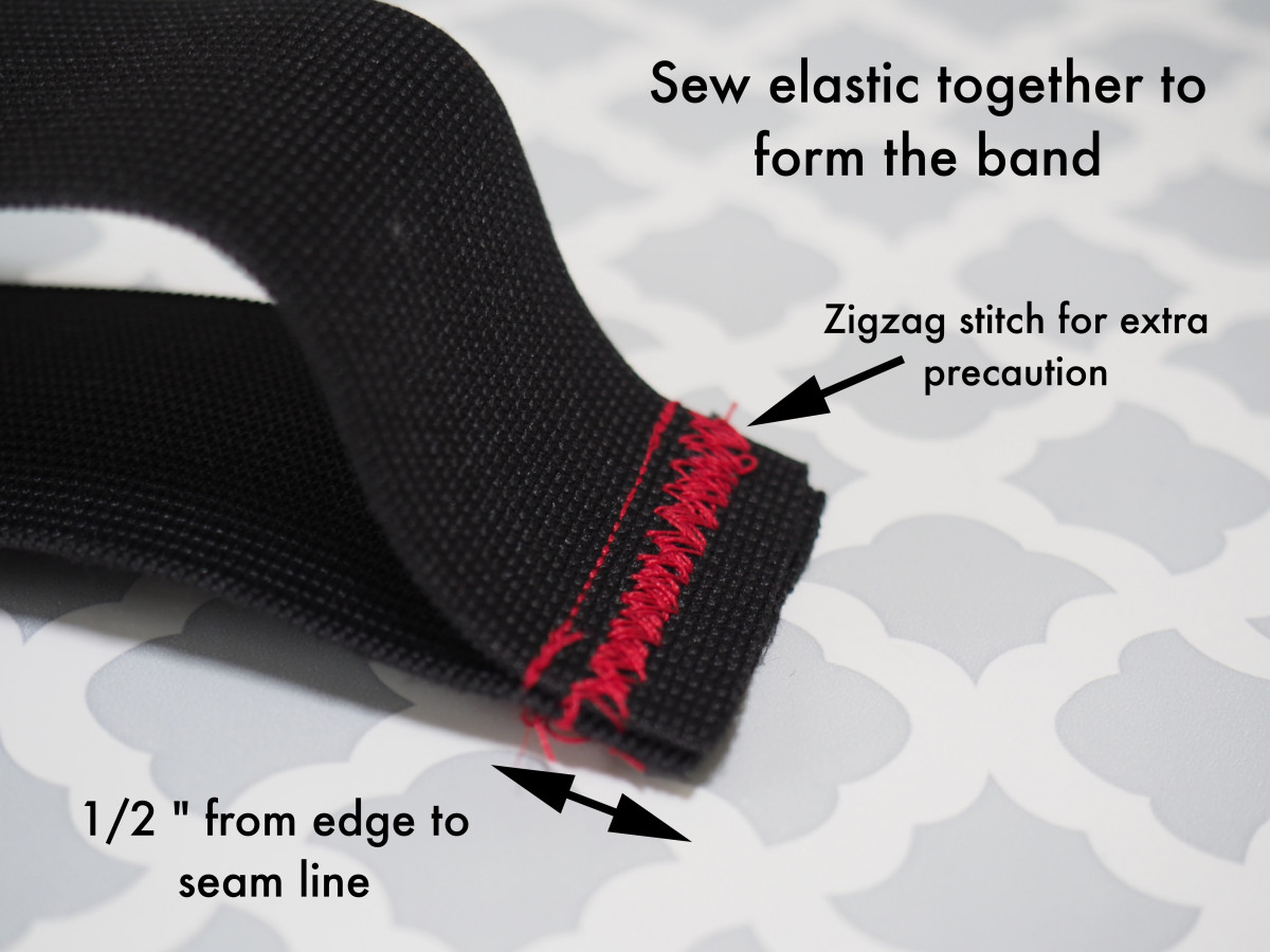 Sew the two ends of the elastic together.