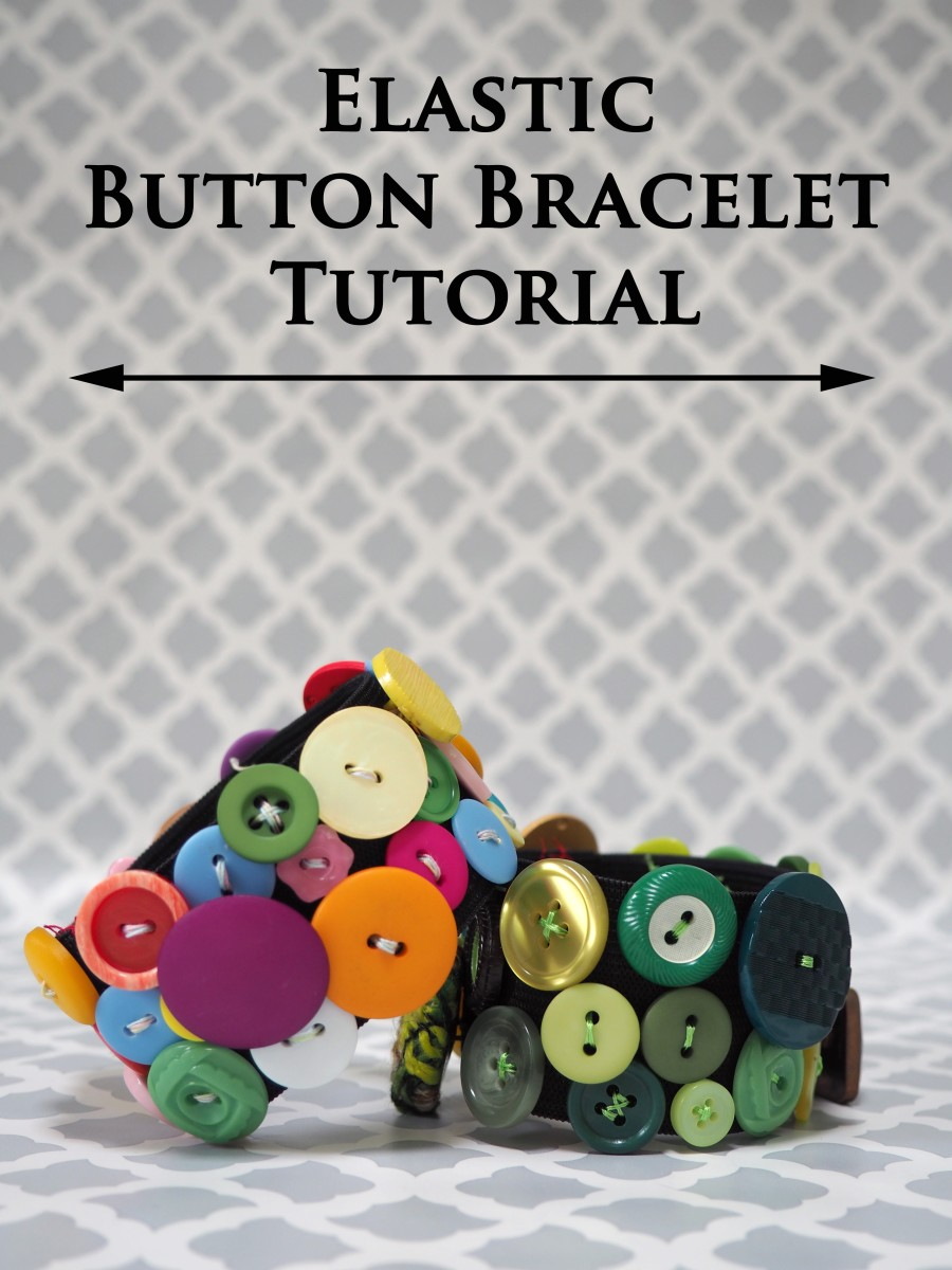A great addition to your jewelry wardrobe, this fun and funky elastic button bracelet can be made in an afternoon.