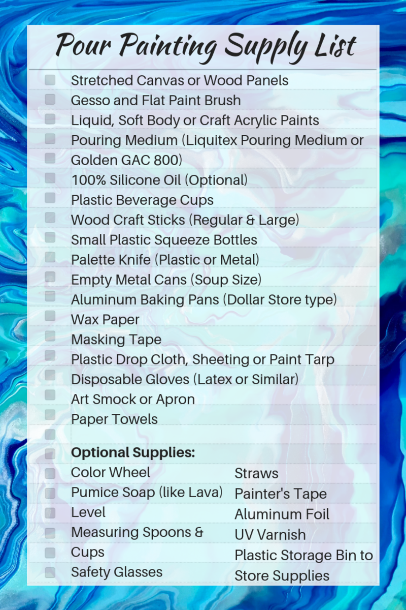 Acrylic Pour Painting Supply List
