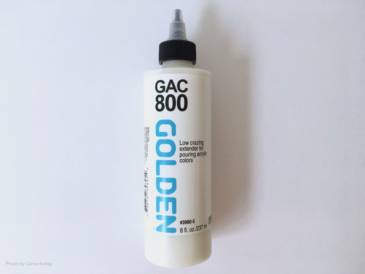 Golden GAC 800 is an acrylic polymer medium that can be used for pouring paint.