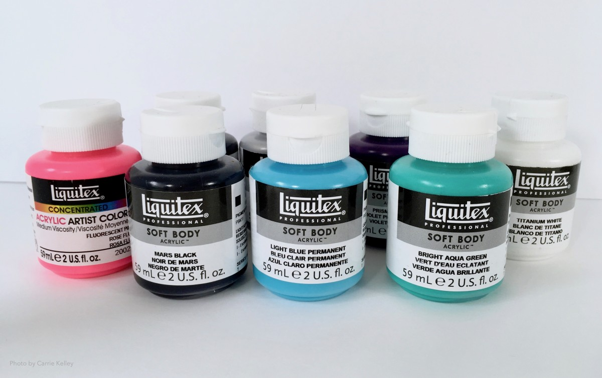 Liquid or soft body acrylic paints are best suited for acrylic pour painting.